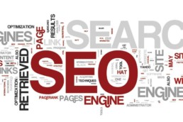 The meaning of SEO - Multiple SEO words on a background